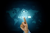 Cloud server application and hosting on internet network conceptual image - 241529073
