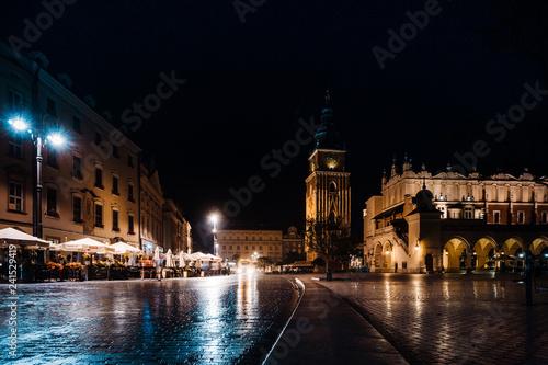 obraz PCV KRAKOW, POLAND - August 27, 2017: The Cloth Hall Krakow,listed as a UNESCO World Heritage Site since 1978, Poland