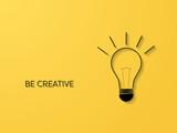 Symbol kreatywności z żarówka sztuki linii z koncepcją wektor cienie 3d. Biznesowy symbol dla pomysłu, innowaci, wyobraźni.