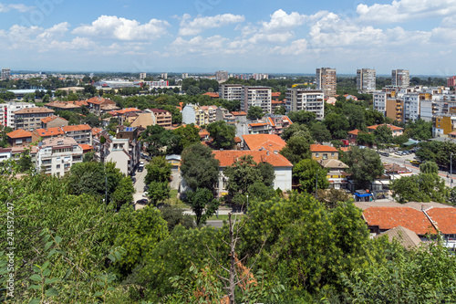 Panoramic cityscape of Plovdiv city from Nebet Tepe hill, Bulgaria - 241537247