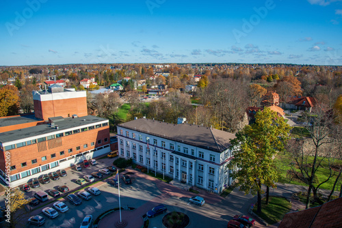 City of Valmiera in Latvia from above - 241552069
