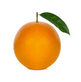 Fresh orange from the farm on a white background - 241558427