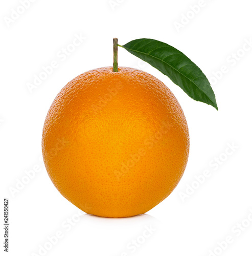 Fresh orange from the farm on a white background
