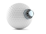 Golf ball with combination lock