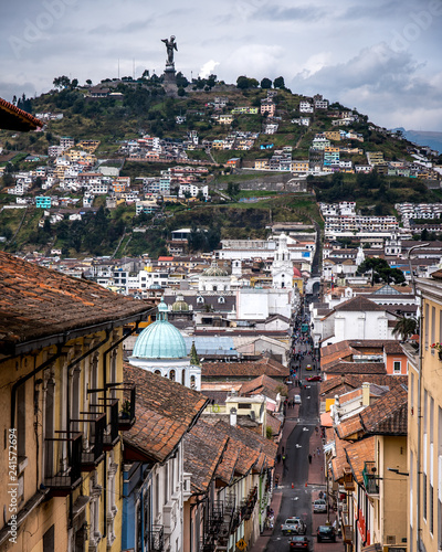 Architecture and street scenes in Quito Ecuador