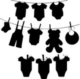 洗濯もののシルエット - 241574450