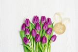 Ostern Tulpen Karte Grußkarte Textfreiraum Frohe Ostern