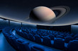 Planet Saturn projection at the big cinema