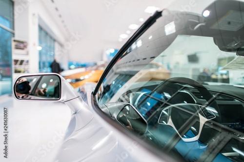 Leinwandbild Motiv Modern Car in the Showroom