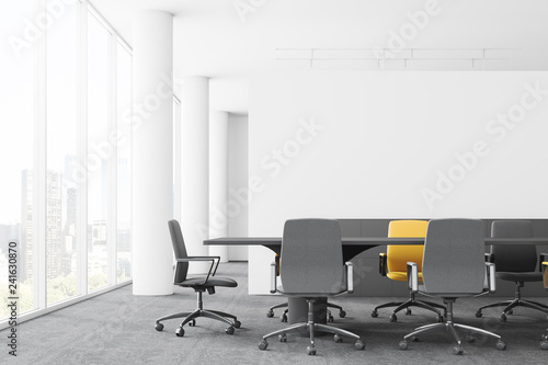 Meeting room interior with columns