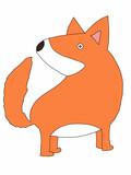 cute cartoon fox   animal illustration