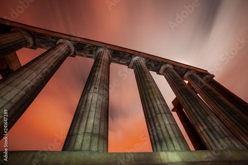 The National Monument on Carlton Hill in Edinburgh, Scotland
