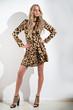 Girl in leopard print dress