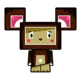 Cute Cartoon Block Bear Character