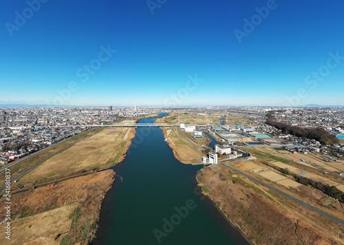 江戸川上空のパノラマ写真 - 241680837