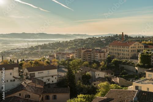 Fridge magnet Ville de Grasse France Usines Parfums Panoramique