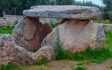 Dolmen Della Chianca at Sunset, a Prehistoric Building in Bisceglie, Apulia, Italy