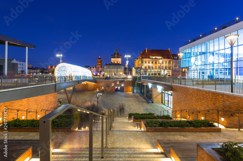 Foto Murales Architecture of the old town in Gdansk at dusk, Poland