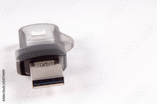 usb pendrive on white background