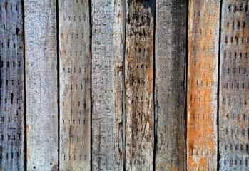 brown old and damaged wood texture - background © sema_srinouljan