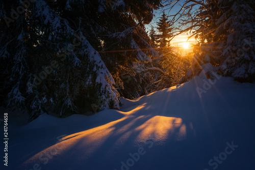 Krknose winter sunset