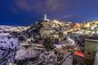 Matera, neve, basilicata, cielo, sassi di matera,  - 241773844
