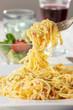 Spaghetti Carbonara auf einem Teller - 241773850