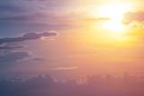 closeup dramatic sunset, natural background - 241778216