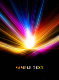 Abstract bright color fractal template - 241781018