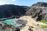 View of the Halona Blowhole Lookout, Tourist Attraction in Oahu island - 241782683