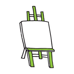 Easel cartoon vector illustration, hand drawn style
