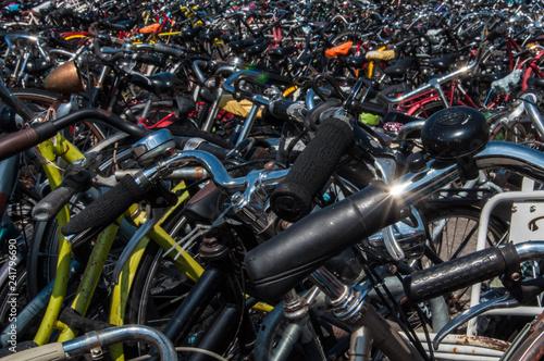 obraz lub plakat bike parking area - amsterdam