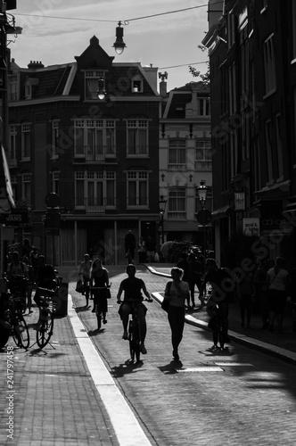 amsterdam street life - silhouettes