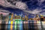 Fototapeta Nowy York - Lower Manhattan by night, NYC © dade72
