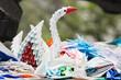 Quadro Paper cranes in Hiroshima Peace Park, Japan