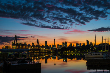 Sunrise with clouds over Sydney © Tim