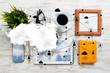 Leinwanddruck Bild - Social communication and global networking concept