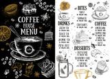 Coffee house menu. Restaurant cafe menu, template design. Food flyer. - 241821004