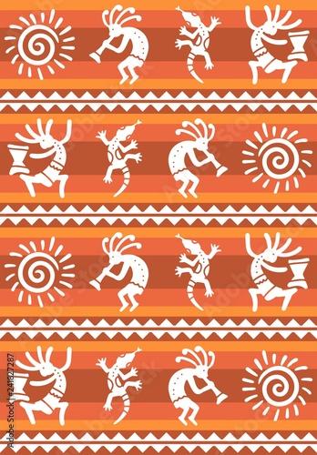 American pattern. Ethnic seamless ornament. - 241827287