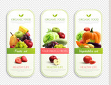 Fruits And Vegetables Organic Labels  - 241831278