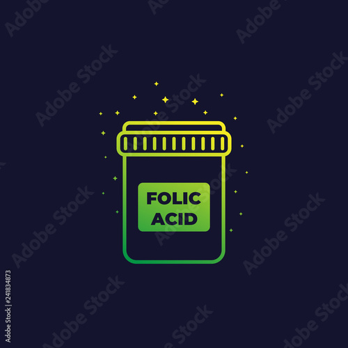 folic acid icon, vector