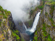 Voringsfossen waterfall, Mabodalen canyon Norway - 241840256