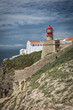 Cape Saint Vincent lighthouse in Algarve, Portugal, most southwestern point of Portugal and of continental Europe