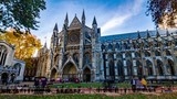 Time lapse view of Westminster Abbey on the centenary commemoration marking the end of WW1 - 241847040