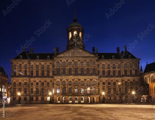 Royal Palace - Koninklijk Paleis at Dam square in Amsterdam. Netherlands