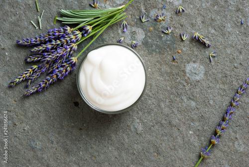 Leinwandbild Motiv Lavender cream