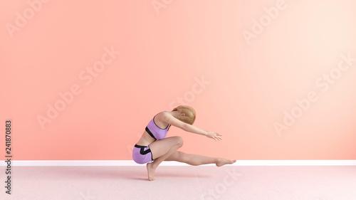Leinwanddruck Bild Mountain Toe Stand Yoga Pose