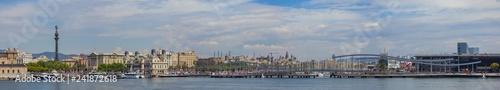 Leinwandbild Motiv Port Vell Panorama