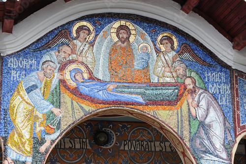 Sambata des Sus; othodoxe Kirche; Mosaik-Ikone; Rumänien; Romania; Siebenbürgen
