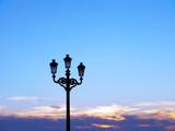 farolas antiguas con fondo de cielo azul en la bahía de Cádiz, Andalucía. España. Europa - 241878657
